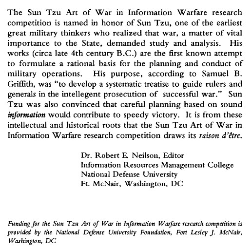 Sun Tzu and Information Warfare