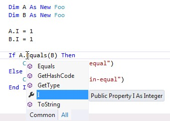 Equals() and GetHashCode() for Custom Objects in VB